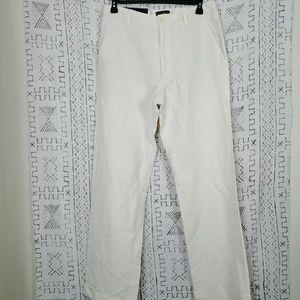 NWT Cream Banana Republic Linen Dawson Pants 34L